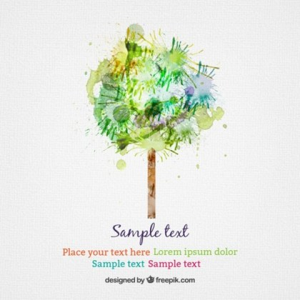 Watercolor Tree Free Vector