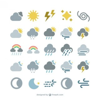 Weather Forecast Icons Free Vector