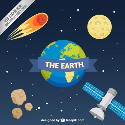 Web Background with Planet Earth Free Vector
