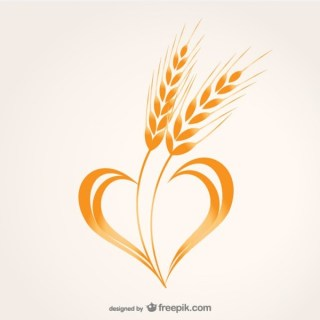 Wheat Heart Composition Free Vector