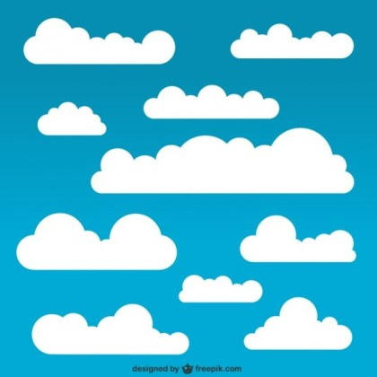 White Clouds Pack Free Vector