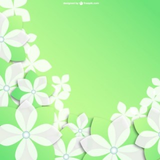 White Flowers Background Free Vector