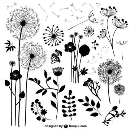 Wild Flowers S Free Vector