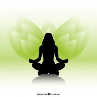 Woman Silhouette Yoga Free Vector
