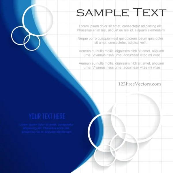Blue Background Template Illustrator Free