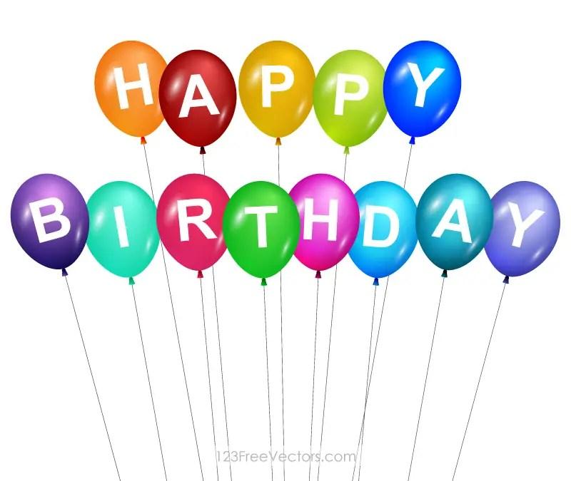 happy birthday balloons clip art 123freevectors rh 123freevectors com birthday balloons pictures clip art birthday balloons clip art black white