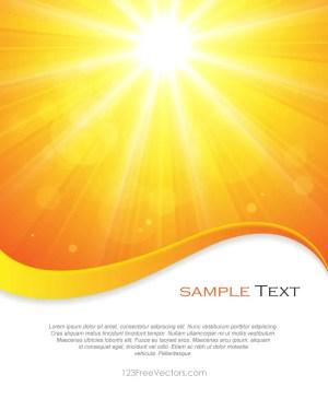 Yellow Sun Rays Background Vector