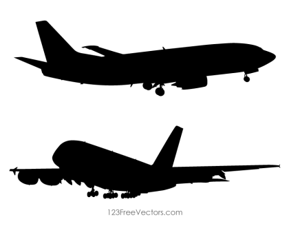 Airplane Silhouette Clip Art
