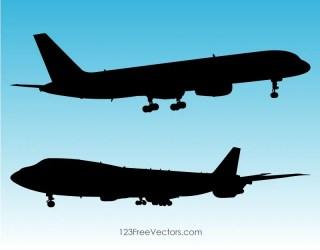 Silhouette Plane Clip Art