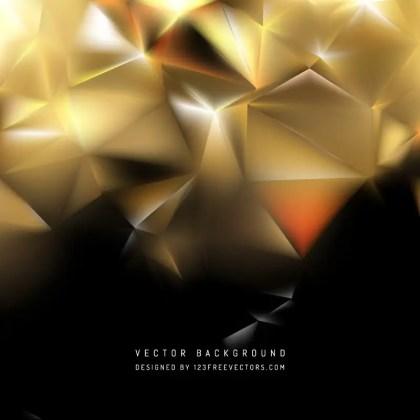 Black Yellow Polygon Triangle Background