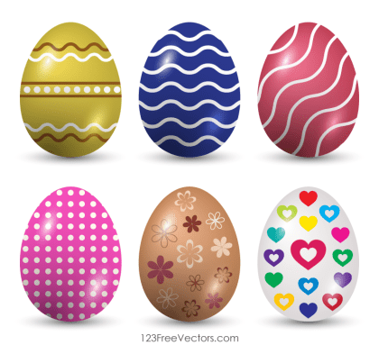 Happy Easter Eggs Vector Images