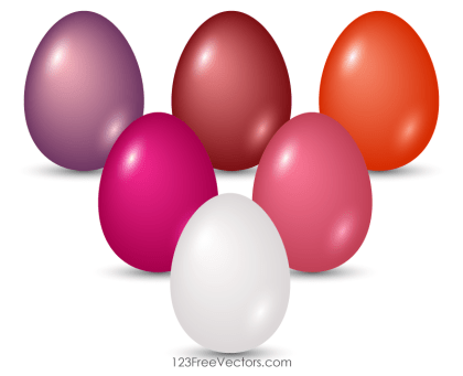 Colored Easter Eggs Vector Art