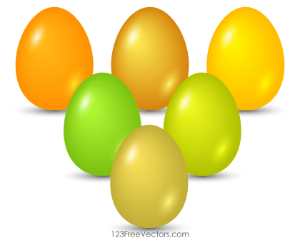 Colorful Easter Egg Graphics