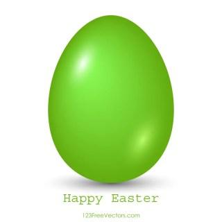 Green Easter Egg Clip Art Image