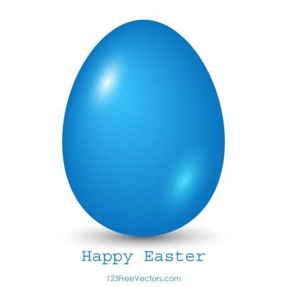 Blue Easter Egg Clip Art