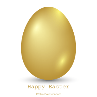 Golden Easter Egg Vector Image