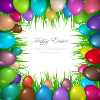 Colorful Easter Egg Border Clip Art