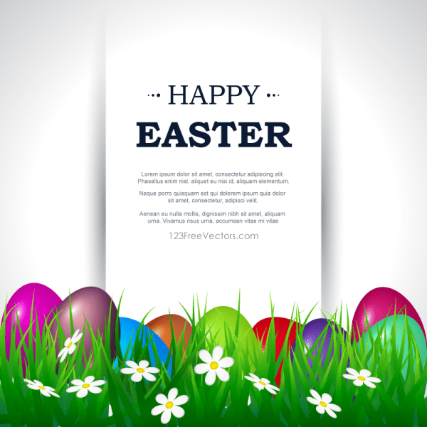 Happy Easter Card Template Free