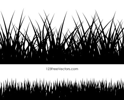 Grass Vector Silhouette Illustration