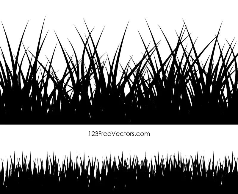 Grass Vector Silhouette Illustration