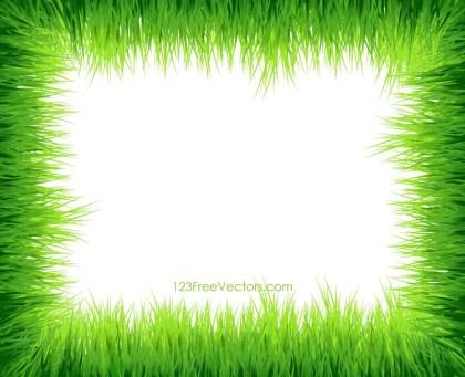 Green Grass Frame Border