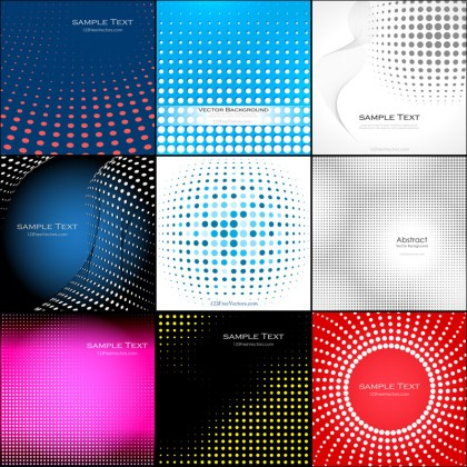 Free Halftone Background Vector Pack