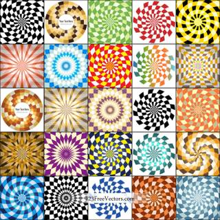 Free Optical Illusion Background Vector Pack