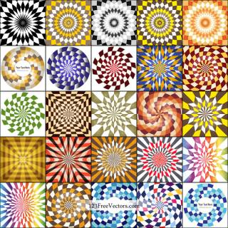 Optical Illusion Background Illustrator Vector Pack