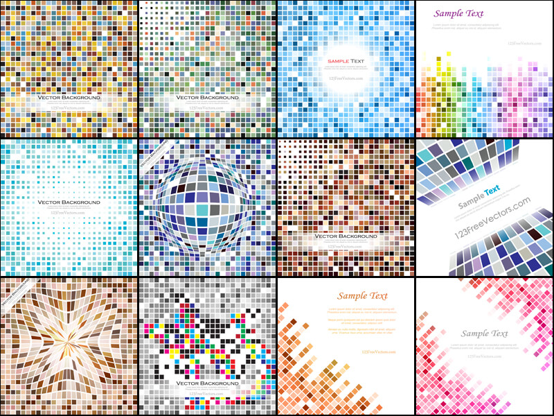 Free Tile Background Vector Pack