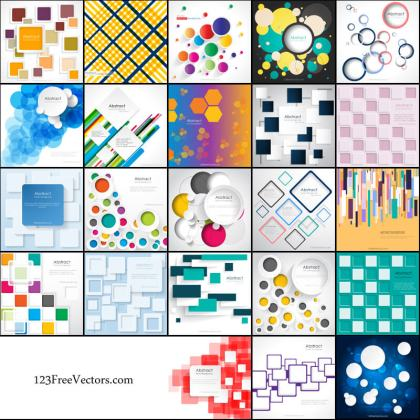 Free Geometric Background Vector Pack