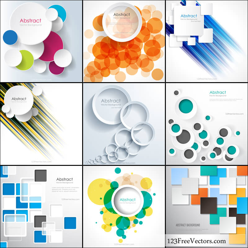 Free Abstract Geometric Background Vector Pack