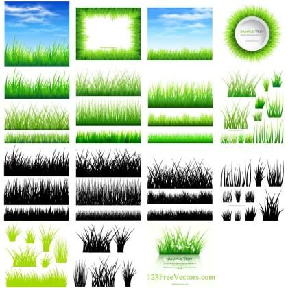 Free Grass Vector Illustrator Pack