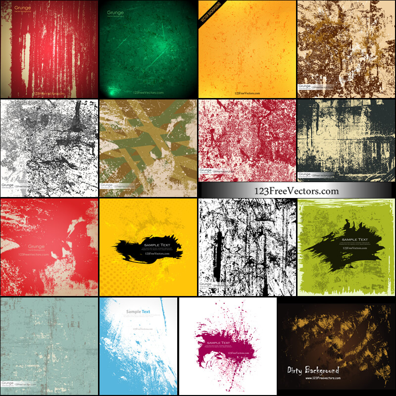 Free Grunge Texture Backgrounds Vector Pack