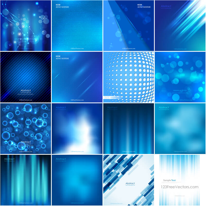 Free Blue Background Vector Pack