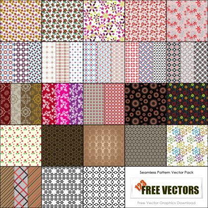 Free Seamless Pattern Illustrator Vector Pack