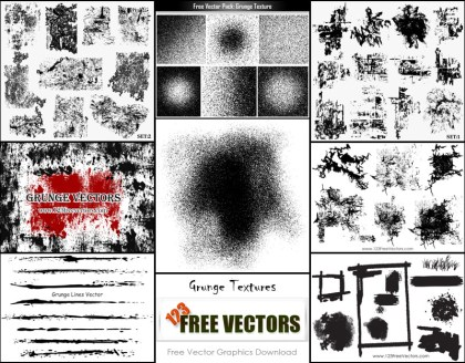 Free Vector Grunge Texture Illustrator Pack