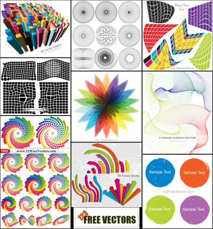 Free Colorful Design Elements Vector Pack