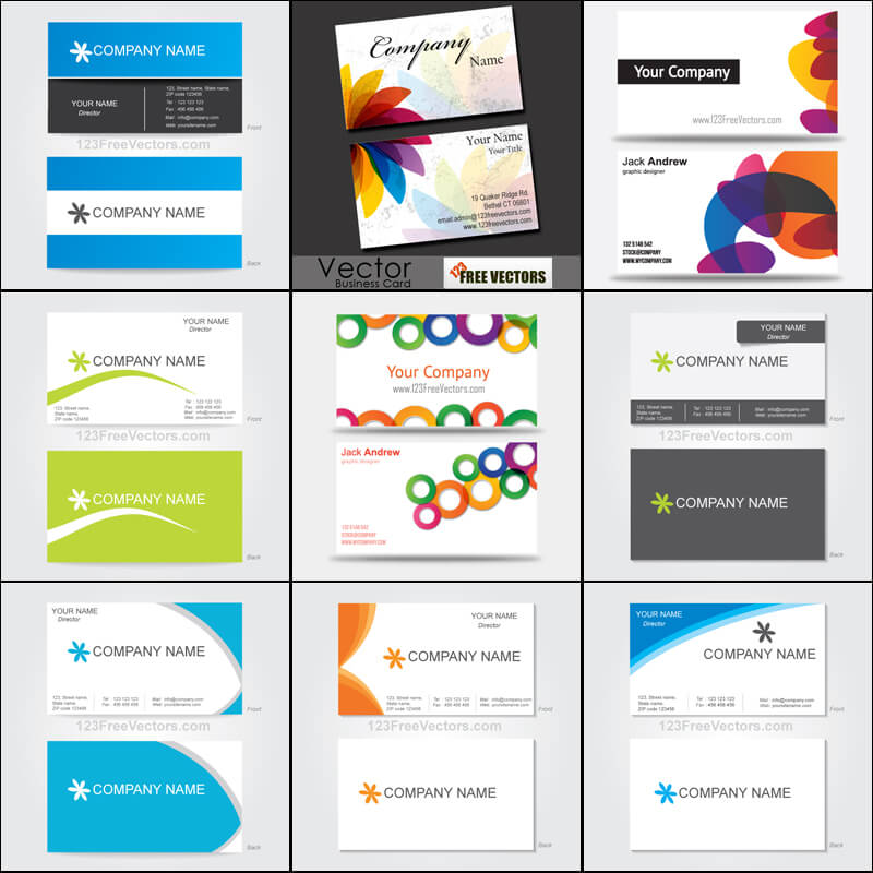 Free Business Card Templates Vector Pack | 123Freevectors