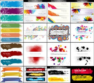 Free Header Banner Vector Pack