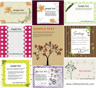 Free Greeting Card Template Vector Pack