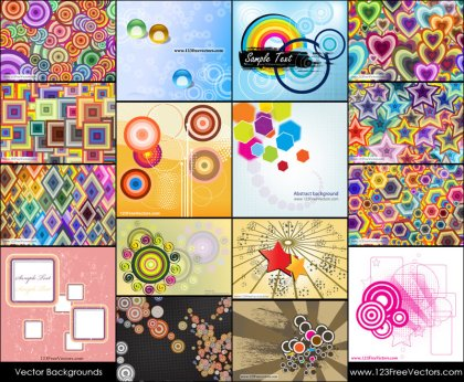 Free Colorful Shapes Background Vector Pack