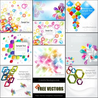 Free Colorful Abstract Background Vector Pack