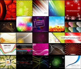 Free Abstract Background Designs Vector Pack