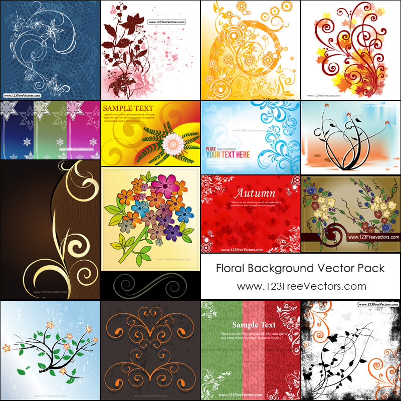 Free Floral Background Vector Pack
