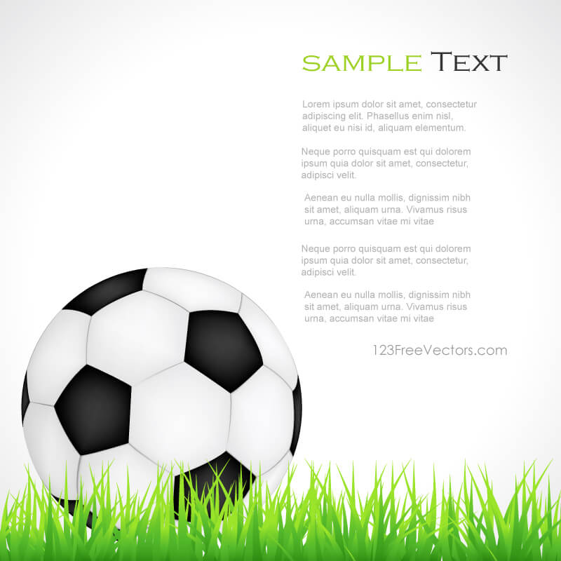 soccer ball on green grass clipart | 123freevectors