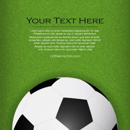Soccer Background Vector Template