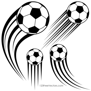Soccer Ball in Motion Clipart