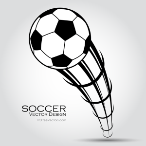 Flying Soccer Ball Clip Art