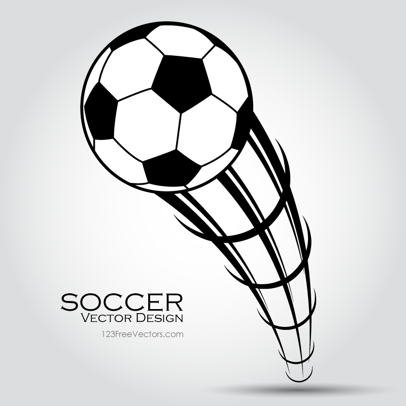 Flying Soccer Ball Clip Art