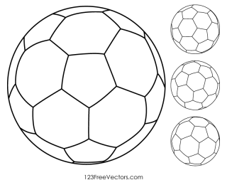 Soccer Ball Outline Clip Art